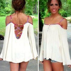 Sexy Backless Off-shoulder Long-sleeved Sling Tops Dress