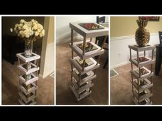 New Diy Dollar Tree Organization Thoughts Ideas Dollar Tree Decor, Dollar Tree Crafts, Dollar Tree Vases, Dollar Store Mirror, Dollar Tree Organization, Diy Organization, Plant Shelves, Diy Room Decor, Home Decor