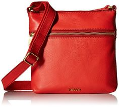 Fossil Women's Piper Mini Crossbody Cross Body Handbag, Tomato, One Size *** You can get additional details at the image link.