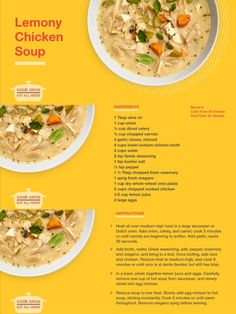 Looking for a big-batch meal to feed the whole family? Try this Lemony Chicken Soup. It's creamy yet dairy-free, and leftovers will hold up perfectly in the fridge. Greek Seasoning, Chicken Soup Recipes, Eat Smart, Easy Healthy Recipes, Uni, Dairy Free, Healthy Eating, Tasty, Recipes