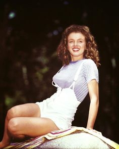 Young Marilyn in 1945 by David Conover.