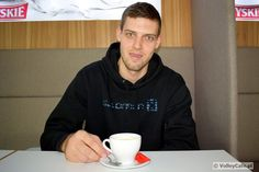 Dmytro Pashytskyy with a cup of #coffee #interview #coffeetime #volleyball
