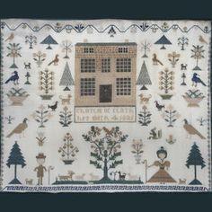 Bonhams 1793 : An early 19th Century needlework sampler, 'Charlot oc(?) Clark her work 4 1821'