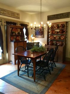 primitive+decorating+ideas | MORE PRIMITIVE DINING ROOM - Dining ...