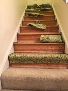 My husband and I recently tore the carpet from our stairs and painted the wood underneath creating a fresh, clean, and modern look! We did this project over a f… Foyer Staircase, Staircase Remodel, Curved Staircase, Entry Stairs, Spiral Staircases, Staircase Design, Houses Architecture, Architecture Restaurant, Restaurant Design