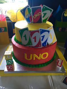 Uno cake Boys First Birthday Party Ideas, Birthday Party Design, Birthday Themes For Boys, Baby Boy 1st Birthday, First Birthday Photos, First Birthday Cakes, Boy Birthday Parties, Birthday Fun, Birthday Celebration