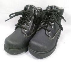 a509388e3b8f SmartFit Boys  Fleece-Lined Waterproof Boots Black Size 8 GOOD CONDITION!   fashion