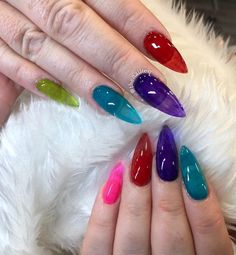 50 Amazing Jelly Nails Designs In 2019 Summer - Septor Planet Coffin Nails Long, Stiletto Nails, Long Nails, Classy Nails, Cute Nails, Pretty Nails, Hair And Nails, My Nails, Jelly Nails