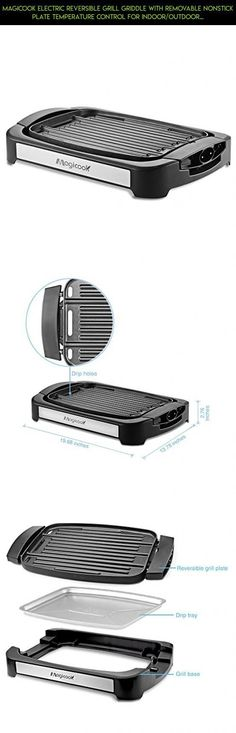 Magicook Electric Reversible Grill Griddle with Removable Nonstick Plate Temperature Control for Indoor/Outdoor Camp #kit #indoor #parts #electric #grills #shopping #technology #drone #smokeless #fpv #camera #racing #products #plans #gadgets #tech