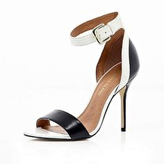 Black and white barely there sandals £65.00 from River Island