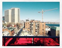 from @hobbsk_photography  View from friends balcony. #halifax #sunny #bluesky #water #city