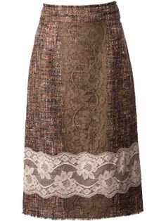 Dolce & Gabbana Embroidered Skirt - Parisi - Farfetch.com Composition: Polyamide 8%, Composition: Cotton 37%, Composition: Wool 55%
