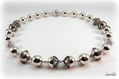 Silverbead necklave with filigree details
