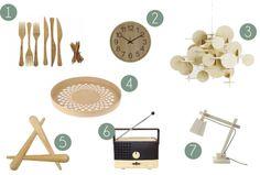 @esescandinavo   Selección de productos de madera. Reloj de pared Wood. #estiloescandinavo, #estilonordico, #decoration, #decoracion, #interiorismo, #interiorism, #escandinavian.
