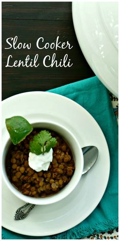 Lentil Chili: A hearty meatless chili that will surely spice up your life and not leave you missing the meat. This dish is high in protein, fiber and taste. Vegan. Vegetarian. Gluten Free