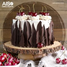 Majestuoso pastel de chocolate y cerezas, prepáralo con premezclas Backen y chocolate Picsa.