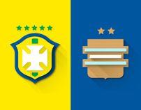 Fifa World Cup Brazil 2014 | Flat Design Shields  Leandro Urban https://www.behance.net/gallery/Fifa-World-Cup-Brazil-2014-Flat-Design-Shields/15064063