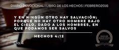 """Día 4 - Hechos 4 """"Y en ningún otro hay salvación..."""" #Devocional #LibroDeLosHechos #IcaRiosXela"""