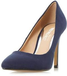 21b4bcbc2cc  Head Over Heels By Dune Navy Alice High Heel Court Shoes (affiliate)