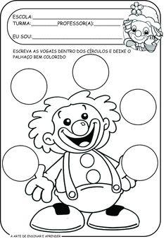 Circus Activities, Alphabet Activities, Color Activities, Preschool Activities, Line Tracing Worksheets, Preschool Worksheets, Clown Party, Graffiti Cartoons, Preschool Coloring Pages
