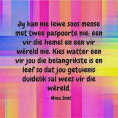 Good Morning Inspirational Quotes, Afrikaans, Spiritual Inspiration, Wise Words, Bible Verses, Spirituality, Omega, Heart, Spiritual