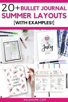 Prepare bullet journals for summer with these awesome bullet journal themes. Discover summer bullet journal ideas and summer bullet journal spreads Bullet Journal 2019, Bullet Journal How To Start A, Bullet Journal Themes, Bullet Journal Layout, Bullet Journal Inspiration, Bullet Journals, Organization Bullet Journal, Diy Organization, Organizing Clutter