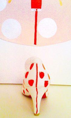 DOYOULIKEITTOO Pumps weiß-rot Größe 37,LEDER in Kleidung & Accessoires, Damenschuhe, Pumps | eBay