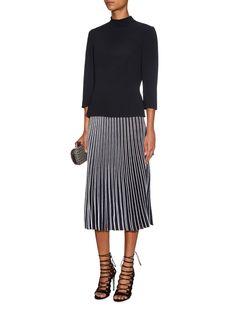 Knitted-pleat flared skirt | Proenza Schouler | MATCHESFASHION.COM UK
