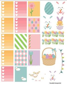 Free Printable Planner Stickers For Easter To Do Planner, Free Planner, Planner Pages, Happy Planner, Planner Ideas, Planners, Easter Stickers, Printable Planner Stickers, Calendar Stickers