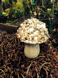 Hey, I found this really awesome Etsy listing at https://www.etsy.com/listing/507548969/shell-mushroom-statuary