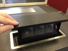Pop-up power sockets from S-Box