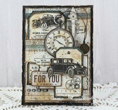 My Little Craft Things: Pion Design – Vintage Cars for Him with video My Little Craft Things: Pion Design – Vintage Cars for Him with video,Lablanche My Little Craft Things: Pion Design – Vintage. Masculine Birthday Cards, Birthday Cards For Men, Man Birthday, Masculine Cards, Vintage Cards, Vintage Paper, Vintage Handmade Cards, Cards For Men Handmade, Steampunk Cards