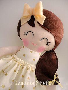 Handmade cloth dollbirthday giftRagdollCloth by lunnitastudio