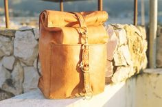 Hand made Leather Backpack rucksack travel by JJLeathersmith
