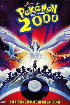 Pokemon: The Movie 2000 i love this movie cause its got my favourite legendary pokemon LUGIA :) Pokemon Lugia, Pokemon 2000, Pokemon Film, Pokemon Movies, Pikachu, Ash Ketchum, Internet Movies, Movies Online, Artists