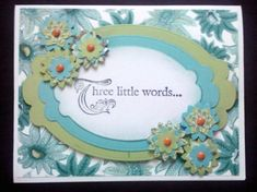 Card by Terry Duncan...like the color combination on this Stampin' Up rubber stamped card.