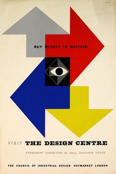 https://flic.kr/p/oTXk4t | Buy Wisely in Britain - Design Centre Exhibition Poster | Designer: Abram Games