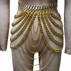 Burning Man Costumes Rave Gold Rhinestone Chain Skirt Bottoms Singer Stage Performance Wear Drag Queen Fashion Show Burning Man Style, Burning Man Fashion, Burning Man Outfits, Drag Queen Costumes, Drag Queen Outfits, Carnival Fashion, Fashion Show, Mens Fashion, Fashion Boots