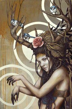 Design Pine / Very Best of Art & Design Art And Illustration, Illustration Inspiration, Inspiration Art, Arte Aries, Street Art, Goddess Art, Magic Realism, Fantasy Kunst, Fantasy Artwork