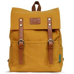 Canvas Backpacks for Men Mustard Backpack College Bag Yellowstone 1016| chanchanbag.com | Modern design makes you feel satisfied Canvas Backpacks for Men.