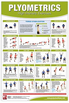 From the essential Productive Fitness collection of health club wall charts, this poster features the path to the perfect Plyometrics workout! With this poster on your wall, you'll be able to perform proper technique on the high-intensity fitness sensatio You Fitness, Physical Fitness, Fitness Tips, Fitness Exercises, Enjoy Fitness, Tummy Exercises, Weight Exercises, Training Exercises, Physical Exercise