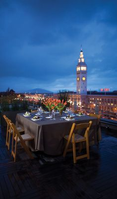 SF - SLEEP: Catch a bite with a stunning view of the Mission at Hotel Vitale - http://www.jetsetter.com/group/summerinthecity