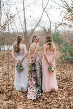 Bridesmaids Inspiration with Claire Pettibone Dresses | http://www.adornmagazine.com | Callan Photo