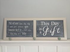 This day is a gift wall hanging
