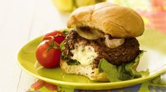 Double Cheese-Stuffed Burgers