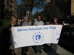 Third Annual Queens Interfaith Unity Walk (New York City). We Are All One, Saint George, Main Street, Worship, Walking, Community, City, World, Third