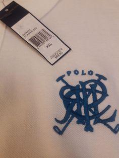 7b9094a56 Big Logo Polo Ralph Lauren White Crossed Mallets Horse Cotton Mesh Mens 2XL  XXL  PoloRalphLauren  PoloRugby
