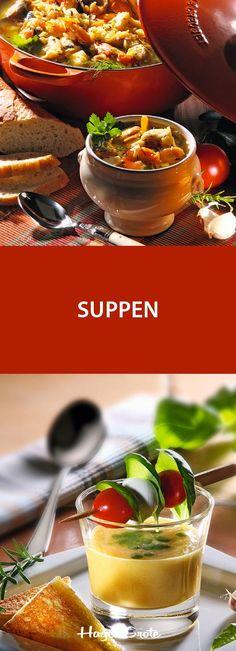 Klare Brühen, deftige Eintöpfe oder cremige Suppen - wir haben leckere Kreationen für Sie zusammengestellt.