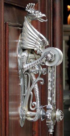Very elaborate door knocker, wow!