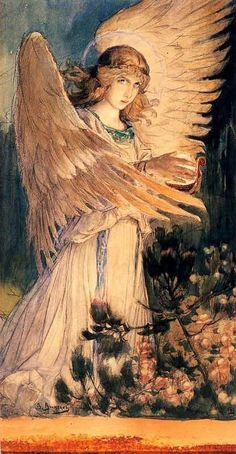 Angel with a lamp Artist: Viktor Vasnetsov Start Date: 1885 Completion Style: Symbolism, Art Nouveau (Modern) Genre: religious painting Angels Among Us, Angels And Demons, Art Magique, I Believe In Angels, Ange Demon, My Guardian Angel, Angels In Heaven, Heavenly Angels, Russian Art